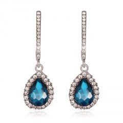 fashion blue stone dangle earring jewelry for women blue