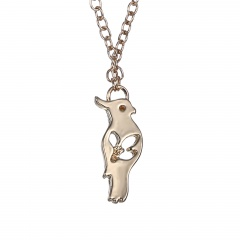 fashion gold bird pendant chain necklace jewelry wholesale gold