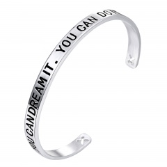 You Can Dream It. You Can Do It DIY English Lettering Bracelet Dream