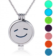 Aromatherapy Locket Oil Diffuser Necklace Openable Photo Box Aromatherapy Necklace C