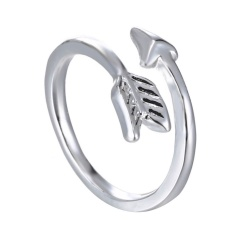 Fashion Gold Plated Arrow Alloy Simple Ring Jewelry Wholesale Gold