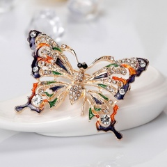 Fashion Butterfly Pearl Stained Drops Brooch Trendy Animal Alloy Rhinestone For Women Best Special Gift For Wedding Brooches butterfly1