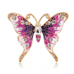 Rinhoo Beautiful pink Butterfly Small Insect Brooch Pins Animal Brooches for Women Decoration Jewelry Accessories For Women Girl butterfly2