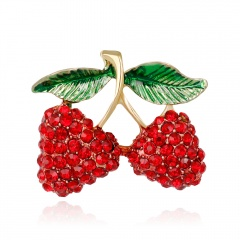 Baby Classic Enamel Brooch Pins Scarf Pins Gift Banquet Weddings Accessories brooch Cherry
