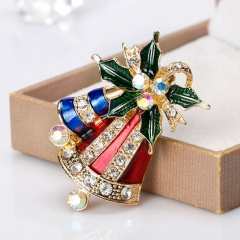 New Brooches With Cute Christmas Series Charms Santa Clause Fashion Men Women's Pins Brooches Jewelry For Cloth Decorations Bell