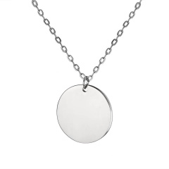 Fashion Love Smooth Stainless Steel Lettering Necklace Necklace Circle