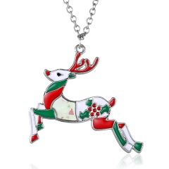 Fashion Christmas Enamel Brooch Pin Gift elk
