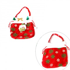 Charm Candy Bags XMAS Christmas Tree Elf Santa Claus Baskets with Handce Decor Red