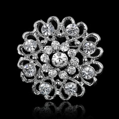 silver wedding crystal brooches jewelry wholesale heart