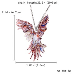 New Fashion Print Pattern Scorpion Animals Pendant Necklace Women Jewelry Gift Bird