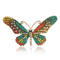 Colorful Cute Butterfly Brooch Mix Color Crystal Rhinestone Brooches for Women Lady Fashion Jewelry Boutonniere butterfly2