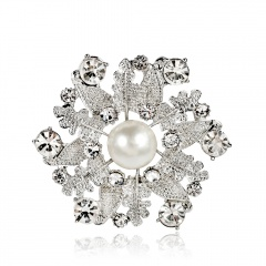 Fashion Crystal Brooch Pin Collor Jewelry flower