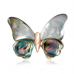 Fashion Butterfly Shell Alloy Brooch bytterfly