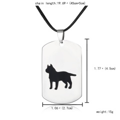 Fashion Stainless Steel Animal Dog Cat Butterfly Heart Dog Tag Pendant Necklace Dog 1