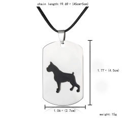 Fashion Stainless Steel Animal Dog Cat Butterfly Heart Dog Tag Pendant Necklace Dog 3
