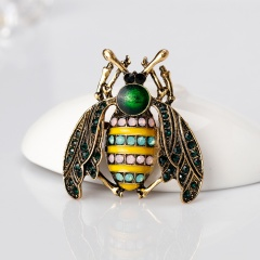 Enamel Pins Night Owl Dragonfly Elephant Bird Bee Insects Crystal Brooches For Women Men Banquet Wedding Gifts animal1