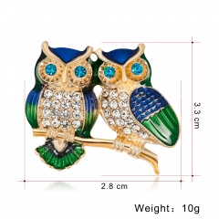 New Natural Animals Brooch Pins Owl Dog Bird In Fashion Men Women's Pins Brooches Costume Jewelry For Cloth Decorations animal1
