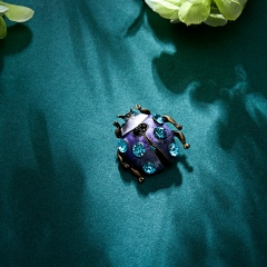 Summer Style Vintage Animal Brooches for Women Plant Insect Pearl Brooch Pin Fashion Dress Coat Jewelry animal1