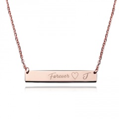 Lettering Necklace Forever Horizontal Clavicle Chain E