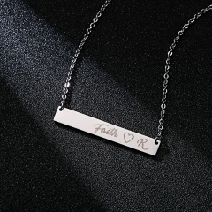 Lettering Necklace Faith Horizontal Letter Necklace Clavicle Chain E