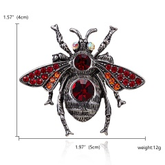 Classic Crystal Alloy Enamel Bee Butterfly Brooch Pins Metal Scarf Pins Banquet Weddings Bee