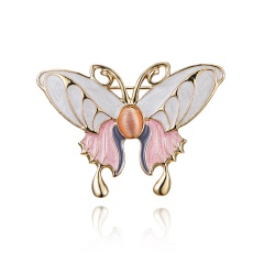 Classic Crystal Alloy Enamel Bee Butterfly Brooch Pins Metal Scarf Pins Banquet Weddings Butterfly