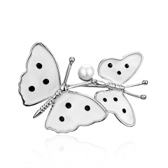 Rhinestone Gold Silver Butterfly Leaf Brooches Women Crystal Enamel Brooch Pins Gifts Butterfly