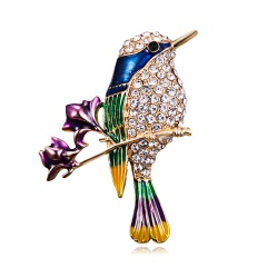 Butterfly Bird Enamel Brooches Women Fashion Metal Insects Wedding Party Banquet Brooch Pins Wedding Bride Jewelry Best Gift animal3