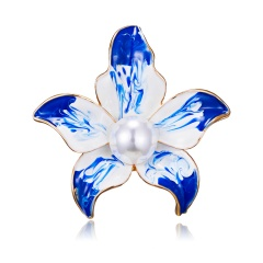 New Fashion Bamboo Leaf Flower Plant Brooch Rhinestones Lapel Pins Brooches for Women Men in Assorted Designs Plant2