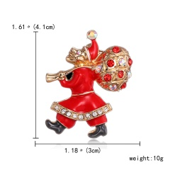 New Brooches With Cute Christmas Series Charms Santa Clause Fashion Men Women's Pins Brooches Jewelry For Cloth Decorations figure