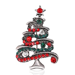 Crystal Christmas Tree Brooch pins Wedding Collar Clip Scarf Buckle Accessory Fashion Jewelry Brooches Best Gift For Women tree5