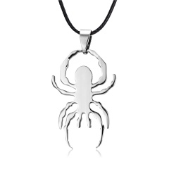 Fashion Stainless Steel Silver Spider Pendant Necklace Spider