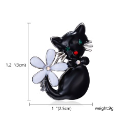 Enamel Cat Panda Giraffe Leopard Brooches for Women Cute Animal Brooch Pin Fashion Jewelry Accessories For Kids Gift Cat 1