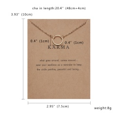 Fashion Silver Round Circle Pendant Necklace Chic Jewelry Costume Party Gift New Gold Round