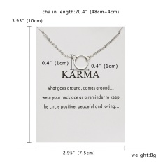 Fashion Silver Round Circle Pendant Necklace Chic Jewelry Costume Party Gift New Silver Round