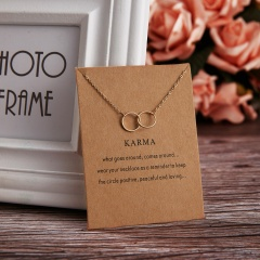 Fashion Round Circle Necklace Charm Chain Women Jewelry Party Gift Gold Circle