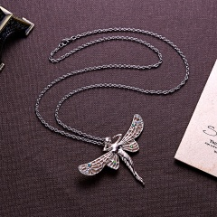 Glowing In The Dark Angel Wings Pendant Necklace Fashion Jewelry Rose Gold