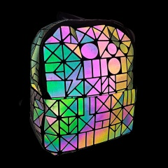 Geometric Ringer Backpack Rravel Storage Bag Zipper Bag 23.5*11.5*29cm The geometric model
