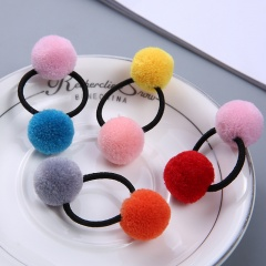 Two-color Hair Ball Children's Small Hair Loop Rope Accessories 1