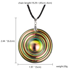 Fashion Round Crystal Necklace Women Jewelry Gift 1