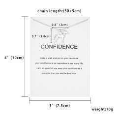 Lovely Dog Pig Zodiac Signs Pendant Necklace Plated Silver Clavicle Chain Gift Dog