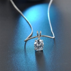 Zircon Pendant Necklace Claw Chain Clavicle Chain Necklace Simple
