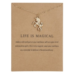 Cat Lover Paper Card Kitten Alloy Necklace Skull Ballerina Horse