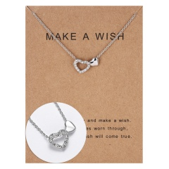 Wholeslae Paper card necklace pendant clavicle chain #20