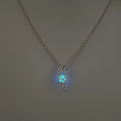 Luminous Angel Wings Glow In The Dark Pendant Necklace Women Jewelry Blue