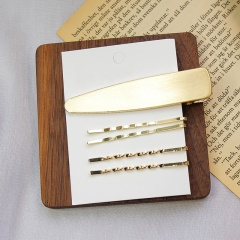 Word clip hairpin side clip #1