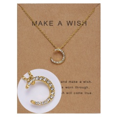Wholeslae Paper card necklace pendant clavicle chain #14