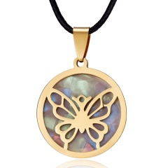 Women Gold Stainless Steel Butterfly Elephant Animal Pendant Necklace Jewelry Lovely Butterfly