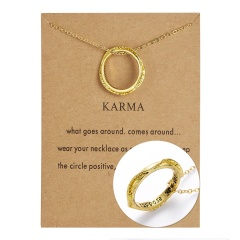 Women Stainless Steel Engraved Words Family Ring Pendant Necklace Jewelry NEW suppose