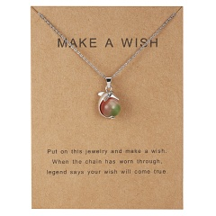 Fashion Women Gold Plated Leaf Circle Pendant Friendship Couple Necklace Jewelry dolphin